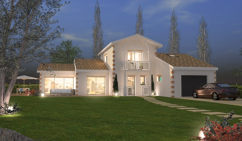 maison tage 144 m 4 chambres. Black Bedroom Furniture Sets. Home Design Ideas